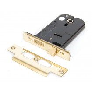 "Brass 5"" 3 Lever Horizontal Lock"