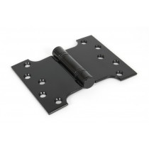 "4''x3"" Ball Bearing Parliament Hinge SS (pair) - Black"