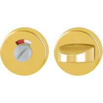 Escutcheon. Door Thickness: 55 mm.  Finish: F3 Aluminium Gold.  Keyhole: Emergency Release With Red-white Indicator/turn