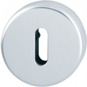 Escutcheon. Finish: F1 Aluminium Silver.  Keyhole: Ob