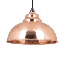 Hammered Copper Harborne Pendant