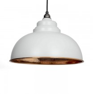 Light Grey Hammered Copper Harborne Pendant
