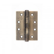 """Atlantic Ball Bearing Hinges Grade 13 Fire Rated 4"""" x 3"""" x 3mm - Antique Brass"""