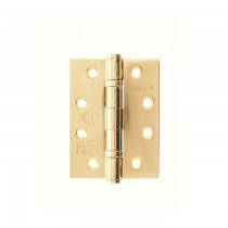 """Atlantic Ball Bearing Hinges Grade 13 Fire Rated 4"""" x 3"""" x 3mm - Polished Brass"""