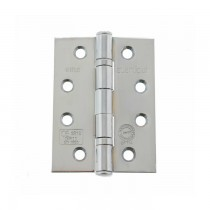 """Atlantic Ball Bearing Hinges Grade 11 Fire Rated 4"""" x 3"""" x 2.5mm - Polished Chrome"""