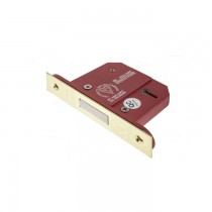 """Atlantic 5 Lever Key Deadlock [BS] 2.5"""" - Polished Brass"""