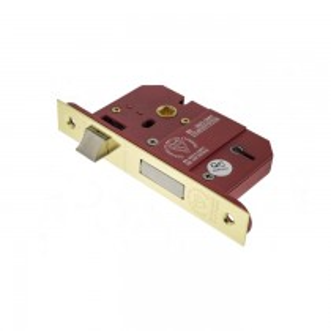"Atlantic 5 Lever Key Sashlock [BS] 2.5"" - Polished Brass"