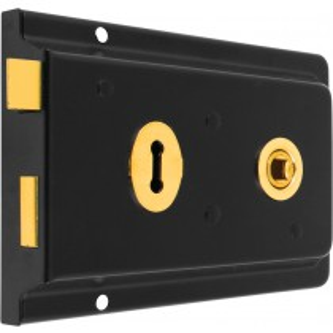 Rim Lock. Case Size: Depth: 105 mm Length: 154mm Width: 29 mm
