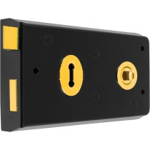 Rim Lock. Case Size: Depth: 142 mm Length: 82 mm Width: 20 mm