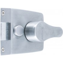 Rim Nightlatch. Backset: 40 mm.  Case Size: Depth: 68 mm Length: 72 mm Width: 26 mm.  Cylinder Finish: F41 Satin Chrome.  Lock Finish: F41 Satin Chrome