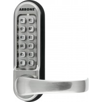 Mechanical Digital Lock. Finish: Stainless Steel Brushed