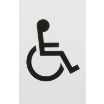 Signs. Finish: Ral 9016 Traffic White.  Symbol: Disabled