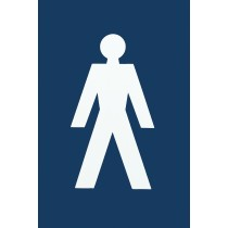 Signs. Finish: Ral 5003 Sapphire Blue.  Symbol: Male