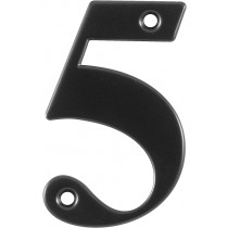 Number 5. Character: Number 5.  Finish: Black.  Product Height: 79 mm