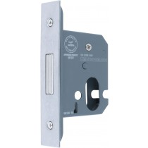 Mortice Deadlock. Backset: 44 mm.  Case Size: Depth: 67 mm Length: 78 mm Width: 17 mm