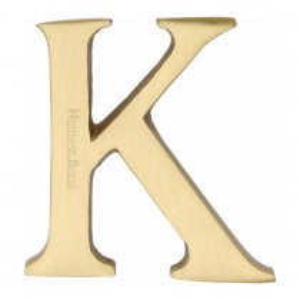 "Heritage Brass Alphabet K Pin Fix 51mm (2"") Satin Brass Finish"