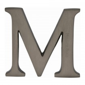 "Heritage Brass Alphabet M Pin Fix 51mm (2"") Matt Bronze Finish"