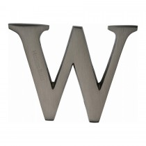"Heritage Brass Alphabet W Pin Fix 51mm (2"") Matt Bronze Finish"