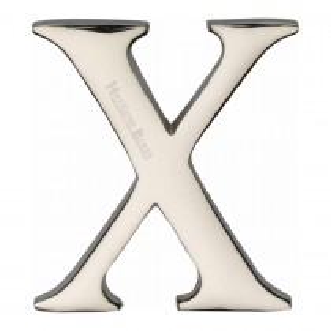"Heritage Brass Alphabet X Pin Fix 51mm (2"") Polished Nickel Finish"