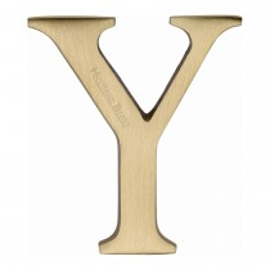 "Heritage Brass Alphabet Y Pin Fix 51mm (2"") Satin Brass Finish"