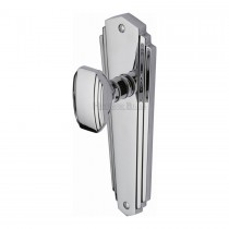 Heritage Brass Mortice Knob on Latch Plate Charlston Design Polished Chrome finish.203x203 mm backplate