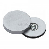 Heritage Brass Bolt Cover to conceal metal fasteners Satin Chrome finish