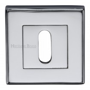 Heritage Brass Key Escutcheon Square Polished Chrome finish. 54x54 mm