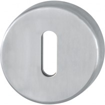 Escutcheon. Finish: F69 Satin Stainless Steel.  Keyhole: Ob