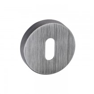 Forme Key Escutcheon on Minimal Round Rose - Urban Graphite