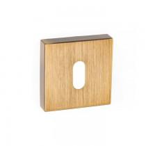 Forme Key Escutcheon on Minimal Square Rose - Yester Bronze
