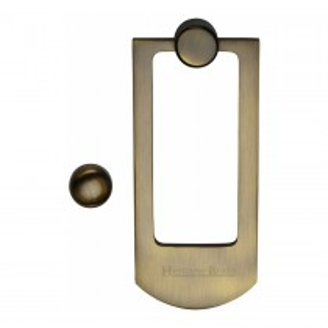 Heritage Brass Door Knocker Antique Brass finish. 159x68 mm backplate