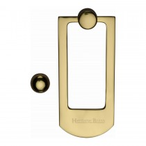 Heritage Brass Door Knocker Polished Brass finish. 159x68 mm backplate