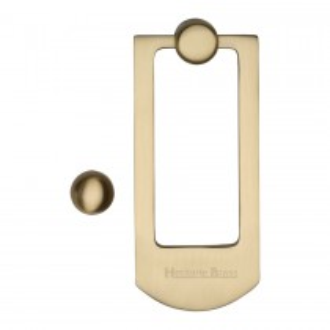 Heritage Brass Door Knocker Satin Brass finish. 159x68 mm backplate