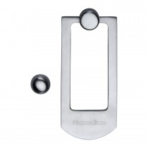Heritage Brass Door Knocker Satin Chrome finish. 159x68 mm backplate