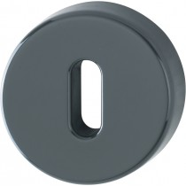 Escutcheon. Finish: F7016 Anthracite Grey.  Keyhole: Ob