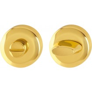 Escutcheon. Finish: F71 Brass Polished.  Keyhole: Emergency Release/turn