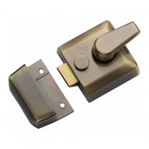 M.Marcus York 40mm Std. Nightlatch Antique Brass Finish