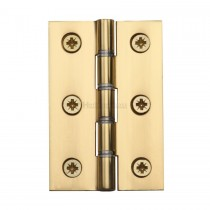 "Heritage Brass 3"" X 2"" DSW Hinge Polished Brass Finish"
