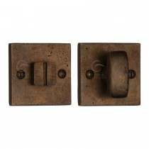 M.Marcus Solid Bronze Square Thumbturn & Emergency Release for Bathroom & Bedroom Doors. 54x54 mm backplate