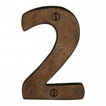 """M.Marcus Solid Bronze Numeral 2 Face Fix 76mm (3"""")"""