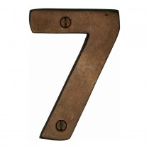 """M.Marcus Solid Bronze Numeral 7 Face Fix 76mm (3"""")"""
