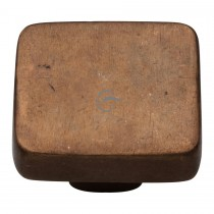 Heritage Brass Solid Bronze Cabinet Knob Square Design 38mm