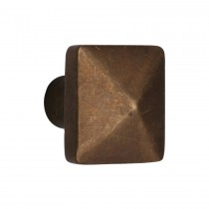 Heritage Brass Solid Bronze Cabinet Knob Pyramid Design 38mm