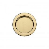 M.Marcus SLD Round Flush Pull Polished Brass. 57mm dia