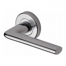 Sorrento Door Handle Lever Latch on Round Rose Lena Design Polished Chrome finish. 53mm rose