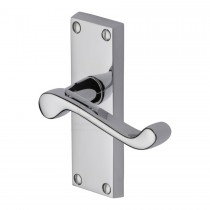 Heritage Brass Victorian Scroll Lever Latch Polished Chrome.
