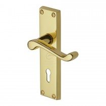 Heritage Brass Victorian Scroll Lever Lock Polished Brass.