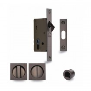M.Marcus SLD Lock C/W SQ Privacy Turns Matt Bronze. 155x20 mm