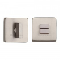 Heritage Brass Square Thumbturn & Emergency Release Satin Nickel Finish. 54x54 mm backplate