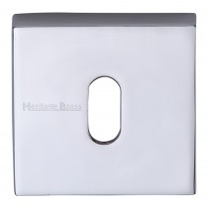 Heritage Brass Square Key Escutcheon Polished Chrome finish. 54x54 mm